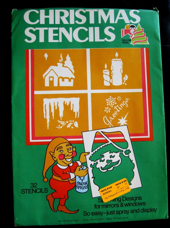 Vintage Christmas Stencils 12 Pages Approx 28 By Quiltcitysue
