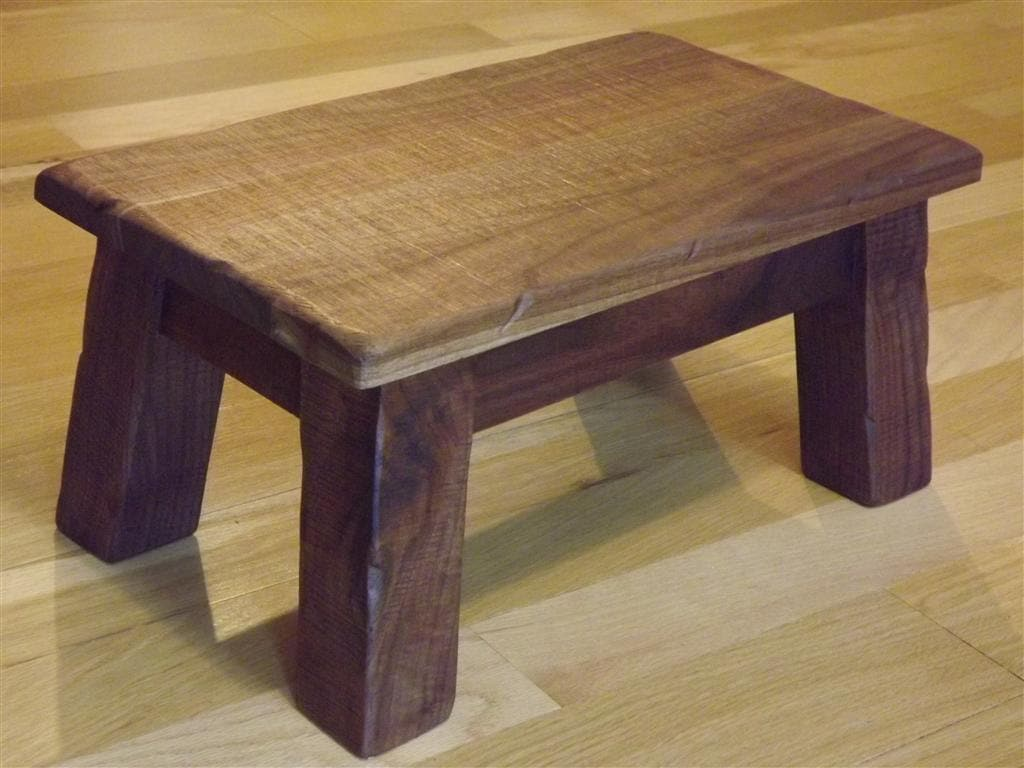 ?zoom & Solid walnut/ Rustic/ Reclaimed wood/ Farmhouse stool/ islam-shia.org