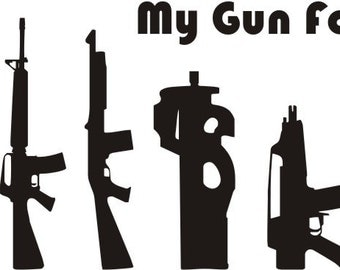 Gun Family Sticker Etsy - Custom vinyl decals for black cars