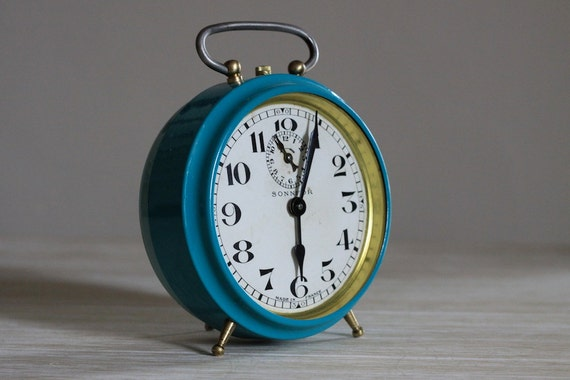 Large French Vintage Alarm Clock Bayard Loft Deco