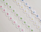 Daisy Trim ( pink-green-yellow-blue)