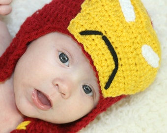 Crochet Ironman hat