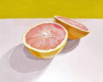 """11x14"""" - grapefruit print - """"Grapefruit 12"""""""