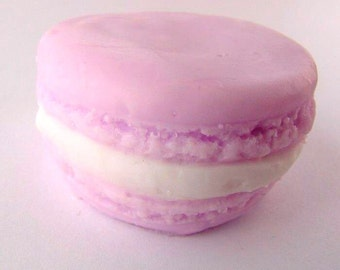 Lavender French Macaroon Soap - Cream filled