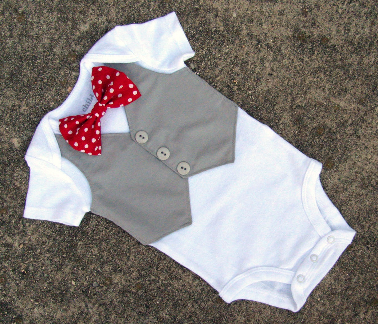 Baby boy valentine 39 s day shirt custom tuxedo by for Baby shirt and bow tie