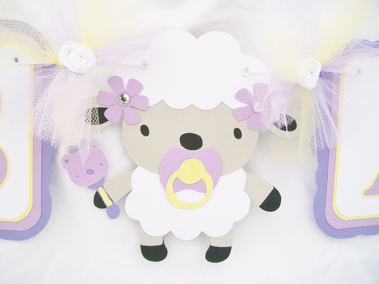 lamb baby shower banner sheep baby shower by nancysbannerboutique