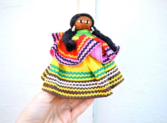 Vintage indian doll senorita native american by for Native american handmade crafts