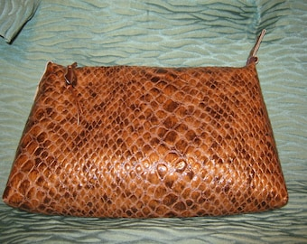 Upcycled Faux Snakeskin Clutch or shoulderbag SALE
