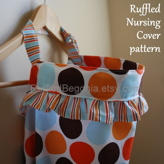 Ruffled Breastfeeding Nursing Cover up Apron DIGITAL SEWING PATTERN