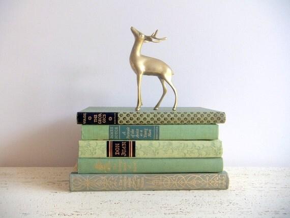 Green Book Collection, Vintage Book Set