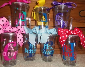 Personalized Tumblers, Teachers, Friends, Wedding, Coach, Gifts