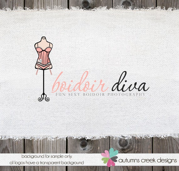 Premade Logo Design Hand Drawn Clothing Boudoir  Photography Logo Watermark Design-NEVER RESOLD OOAK