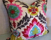 Decorative Pillow Cover in Santa Maria Desert Flower Fabric - Shams also available