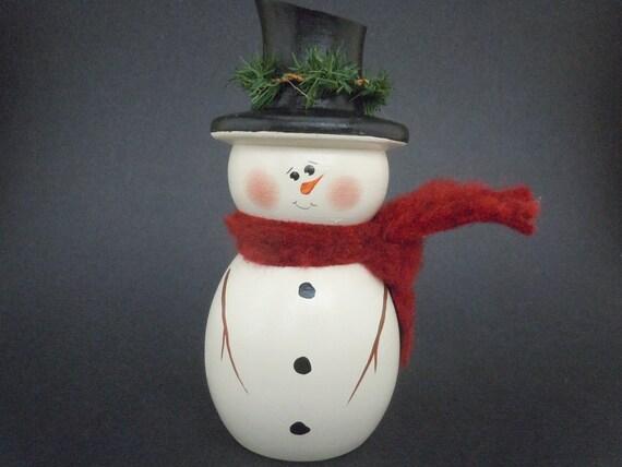 Large Wooden Snowman Sitter