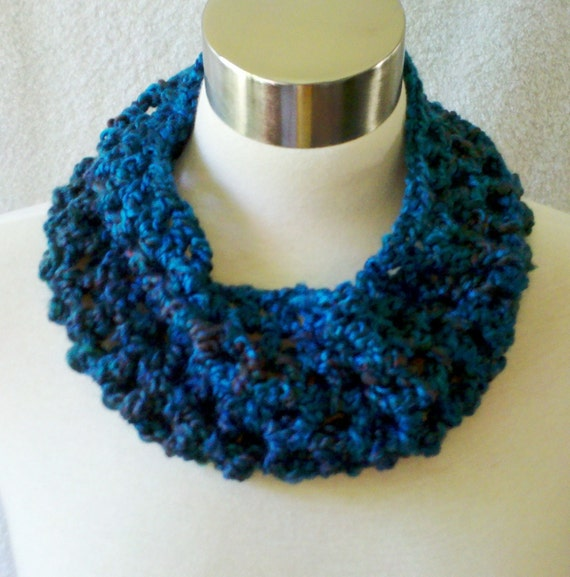 RESERVED for Michelle - Mini Cowl Neckwarmer - Teal Aqua Turquoise Lagoon - READY to SHIP