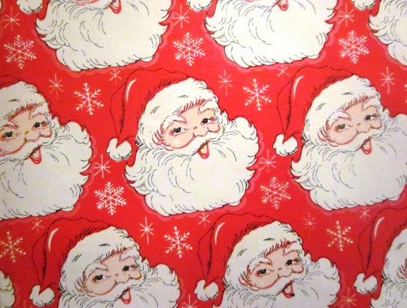 From santa wrapping paper