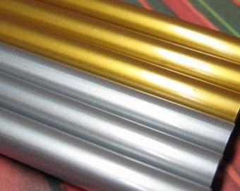 hot glue sticks gold and silver metallic 6pc kawaii opaque holiday wedding anniversary crafts