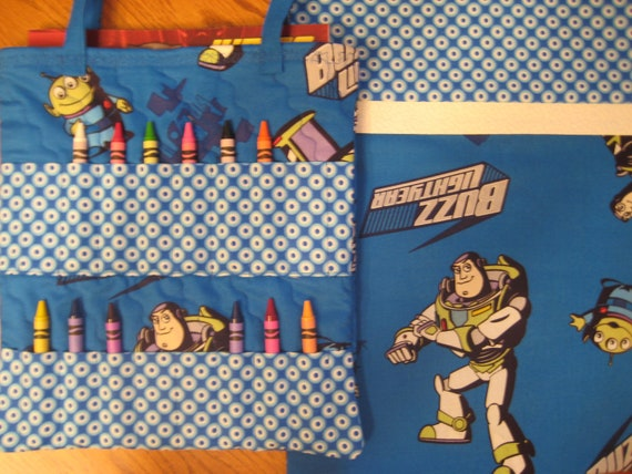 Buzz Lightyear - Standard Size Pillowcase and Large Coloring Book Bag