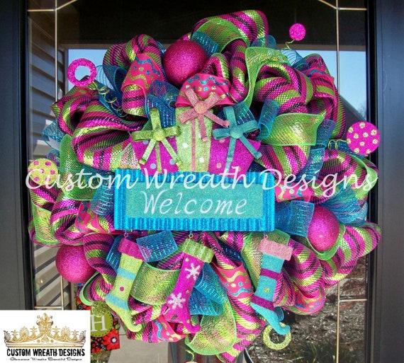 welcome christmas wreath on - photo #5