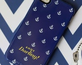 Personalized Nautical Case for iPhone & Samsung Galaxy - Ahoy Darling Collection