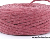 T Shirt Yarn Recycled Dusty Rose Pink 51 Yards Super Bulky Crafting Cord