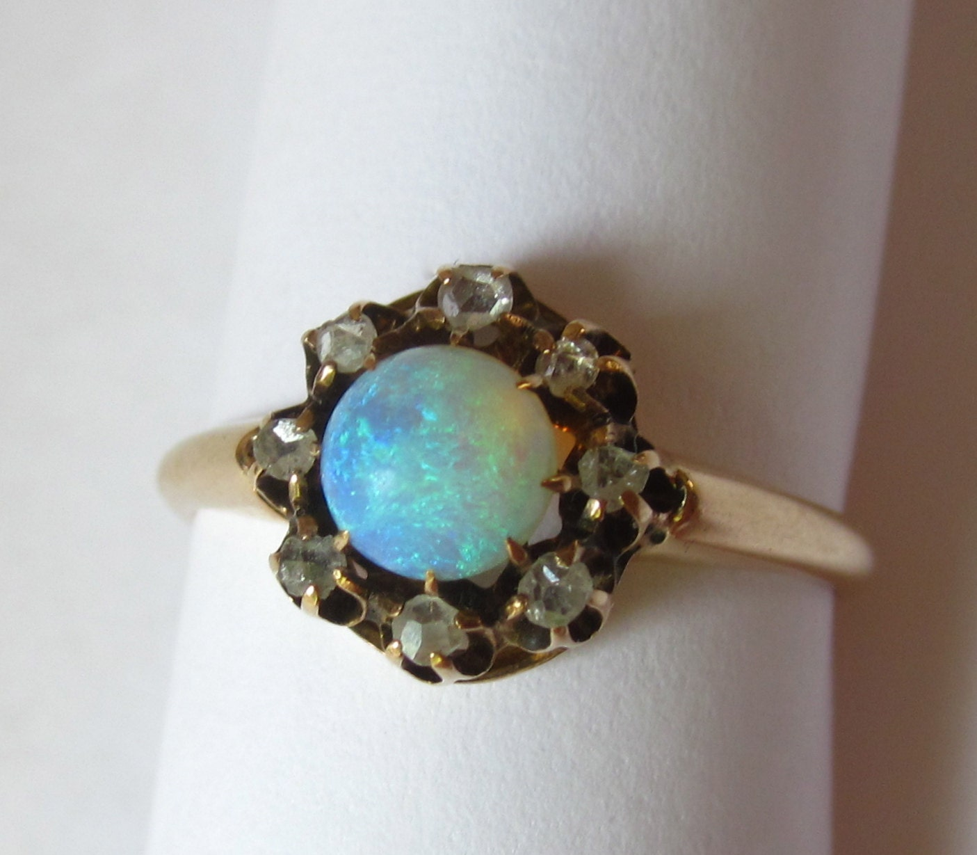 Antique Victorian Opal with Rose Cut by magwildwoodscloset on Etsy