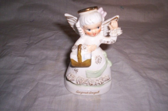 vintage napco birthday month angel august