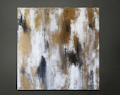 "15% OFF, now through 3/6/13. Enter code 15OFF at checkout. 24"" x 24"" Modern Contemporary Abstract Gold, Black, White"