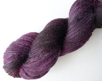 Hand Dyed Sock 4 ply Fingering Suri Alpaca Merino Yarn