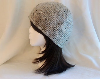 Crochet Grey Marble Beanie