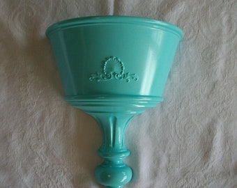 Syroco Upcycled Turquoise French Paris Blue Planter Wall Pocket