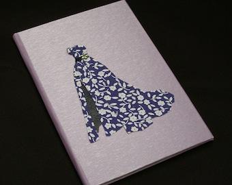Slim lilac vintage evening dress hardback notebook