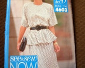 Butterick See & Sew Now Misses Top and Skirt sz 16-24 Uncut 4603