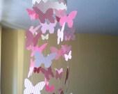 Little butterflies mobile in pink