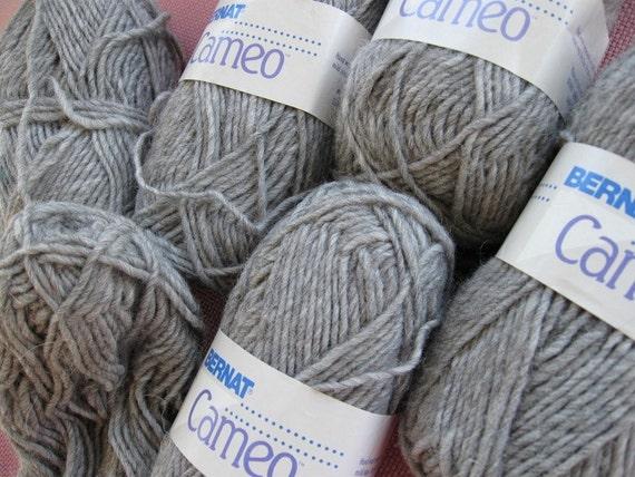 A Destash yarn, Vintage  by Bernat, imported from Italy,  Cameo yarn by Bernat.
