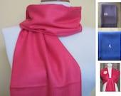 Fushia Pashmina Scarf, Shawl, Wrap, bridal shawl, bridesmaids shawl, bridal gift