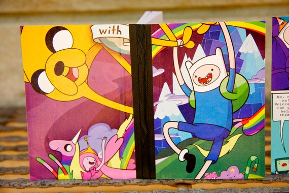 5 Adventure Time Jake and Finn mini notebooks Party pack