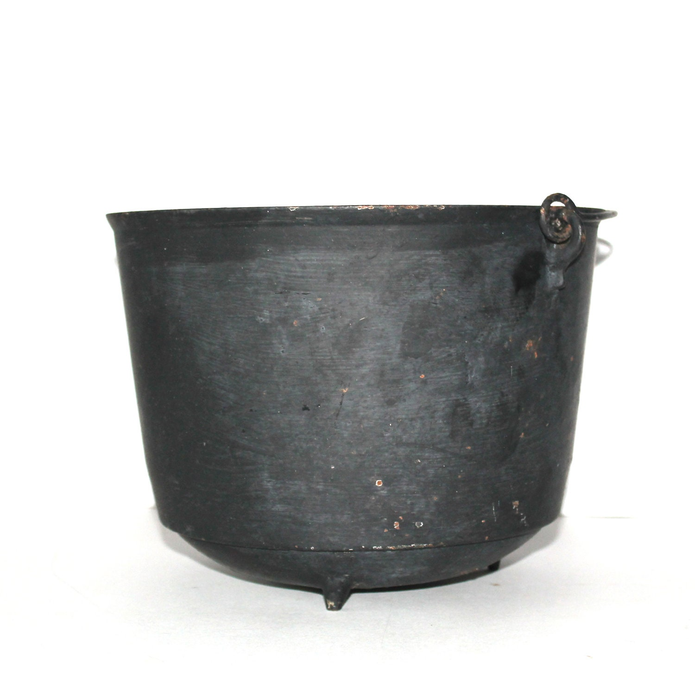 Kettle Cast Iron ~ Antique cast iron kettle pot or cauldron