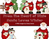 Santa LOVES Winter 5 PNG graphics