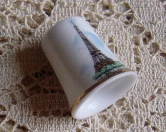 Vintage Paris Eiffel Tower Souvenir Thimble