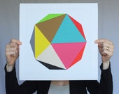"Giclee print - ""Decagon"" - 13"" x 13"" - modern geometric abstract art"