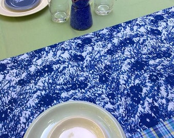 Tablecloth in Blue and Green