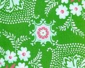 Jennifer Paganelli- Pretty Please- Ann Flower Mural in Green, 1 yard