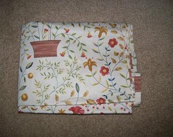 Folk Americana Fabric in Beige Print by Angela Parish for P & B Textiles 2001