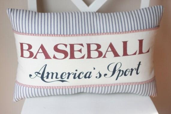 Baseball (America's Sport) Pillow