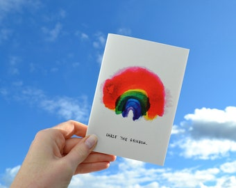 Chase the Rainbow Unlined Notebook