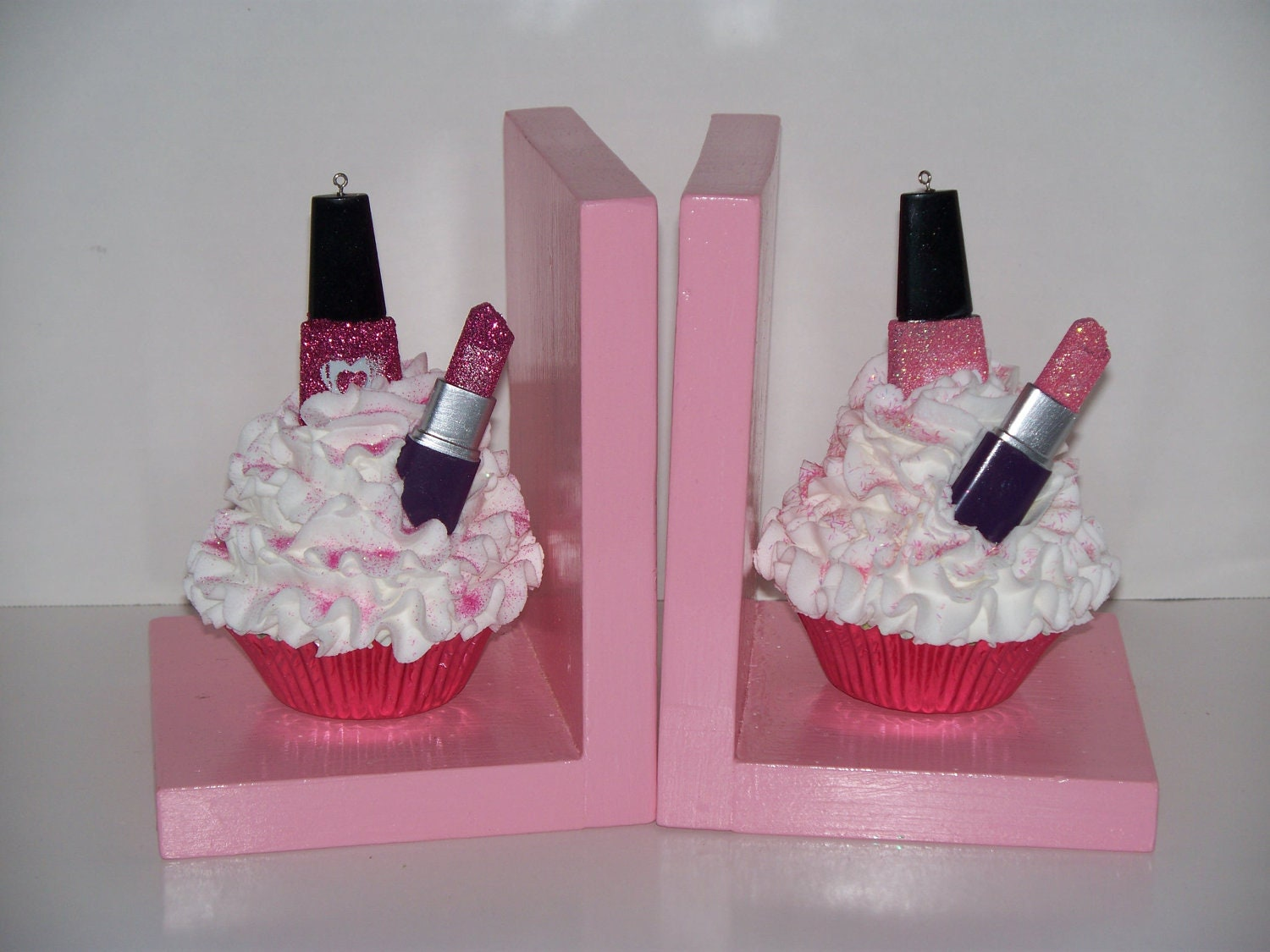 Cosmetic Fake Cupcake Book Ends Nail By FakeCupcakeCreations