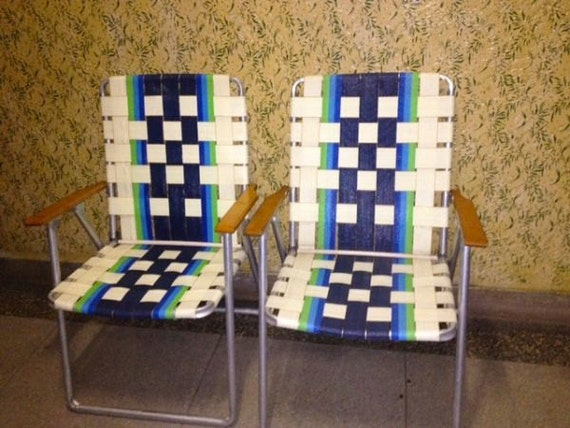 Set vintage lawn chairs patio chic NYC