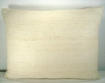 Silk Pillow Decorative Pillow Accent Pillow Silk Lumbar Pillow 14X18 Pillow Cover
