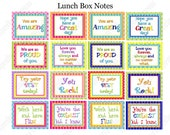 Lunch Box Notes Boy and Girl Printable  INSTANT DOWNLOAD  Sale DIY